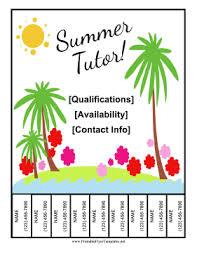 Tutor Flyer Templates Summer Tutor Flyer