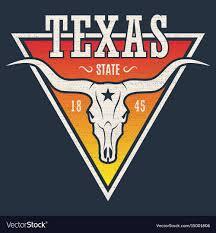 Longhorn T Shirt Designs Texas State Tee Print With Longhorn Skull