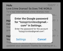 Cant Update Or Change Email Password On Iphone Or Ipad
