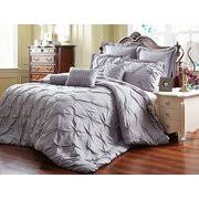 cal king comforter. Unique Home 8 Piece Reversible Pinch Pleat Comforter Set Fade Resistant, Wrinkle Free, No Cal King I