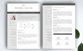 2 Pages Cv Template Professional Resume Templates