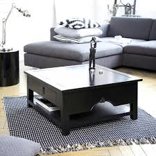Black Coffee Table Nice Square Black Coffee Table With Furniture Dazzling Living Room