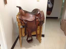 easy wood saddle rack