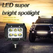 Light Bar 5d 2019 Kongyide Car Light Lc Triple 18w 6 Led Lens 5d 110m W Work Light Bar Driving Lamp Ip68 Waterproof Spot Beam 6000k White Dc 9 32v From Atuomoto