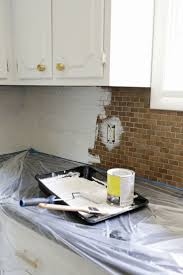 painted tile backsplash cover those ugly tiles remodeling painted tiles kitchens and house