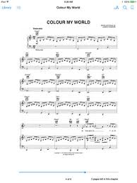 color my world sheet music colour my world sheet music by chicago on ibooks