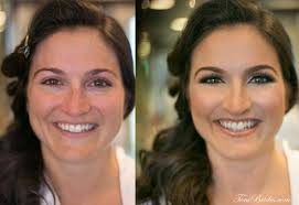 airbrush makeup and hair on our lovely brides this march 15th bronze to match the