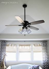 this was such an easy way to switch up the look of the fan the fan itself is actually the exact same fan i used in our master bedroom and put a