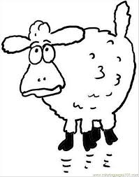 Small Picture Surprised Sheep Coloring Page Coloring Page Free Sheep Coloring