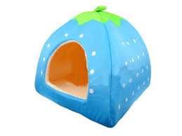 Soft Sponge <b>Strawberry</b> Small Cotton Soft Dog <b>Cat</b> Pet Bed House ...