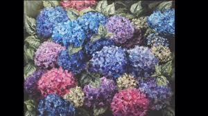 hydrangeas oil painting flower garden