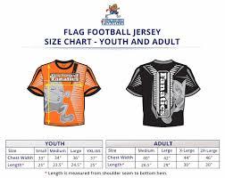 Fanatics Size Chart Youth New Flag Football Uniforms Play Fanatics Flag Football