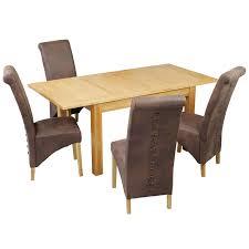 oak amp veneer extending dining table and chair