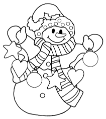 Small Picture Snowman Christmas Coloring Pages For Kids Christmas Coloring