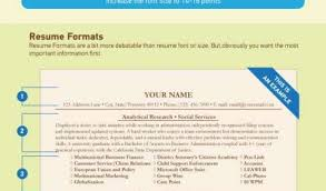 Resumes Examples For Jobs Or Best Resume Font Size And Format Smart