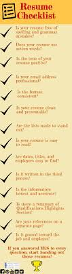 Resume Checklist Estudio Pinterest Resume Cv Check And College