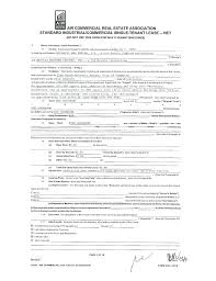 Standard Commercial Lease Form Standard Form Lease Application ...