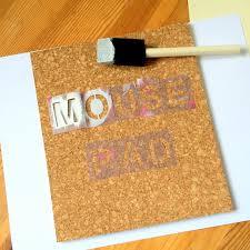 stenciling cork northstory ca diy cork mouse pad