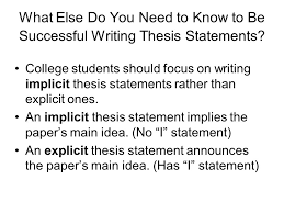 Writing A Thesis Statement The Thesis Statement Does Writing A Thesis Statement Make You Feel
