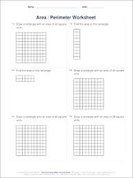 Worksheets Math Grade Common Core Best Of Area And Perimeter Free ...
