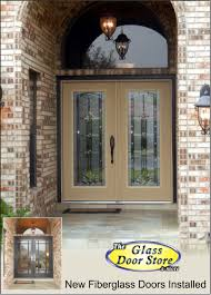 Single Front Door With Glass Insert Partial Size The Glass Door - Exterior door glass insert replacement