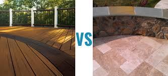 composite deck vs patios compare the