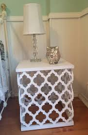 bedside table and lamp from tuesday morning
