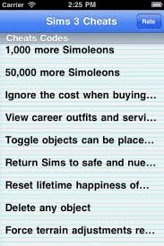 the cheats for sims 3 app for ios review download ipa file