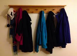 Large Wall Mounted Coat Rack Accessories Great Picture Of Rectangular Rustic Aged Wooden DIY 74