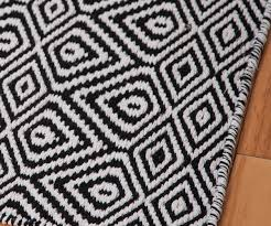 ... Large-size of Intriguing Wild Diamond Eco Cotton Rug Black Room 02 in  Black And ...