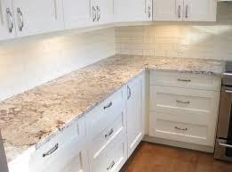 granite kitchen countertops with white cabinets. White Ice Granite With Kitchen Cabinets And Subway Tiles. Countertops N