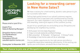 an exciting career opportunity shropshire homes s vacancy ad shropshire star