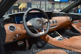 Mercedes S 500 Cabriolet interior at the IAA 2015 - Indian Autos blog
