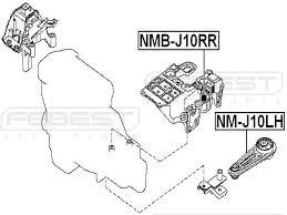 11360jd00a left engine mount for nissan febest amazon co uk car motorbike
