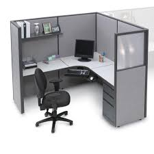 pewter haze complete cubicle with l workstation and boxboxfile pedestal buy modular workstation furniture