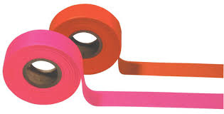 """Surveyor's Plastic Flagging Tape 1 3/16"""" x 300' Pack of 12 - First  Responders/Crossing Guards/Military/Construction"""