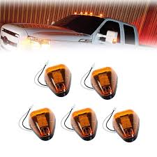 2005 Ford F350 Cab Lights 5x Amber Lens Amber Led Cab Roof Top Marker Lamps Clearance Running Lights Assembly 1999 2016 Ford F 250 F 350 F 450 F 550 Super Duty 2017 2018 E 350