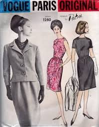 Designer Sewing Patterns Classy Vogue Paris Original Sewing Pattern Designer Patou Women's Suit