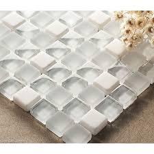 crystal white mosaics glass bathroom wall art tiles backsplash kitchen decor tile