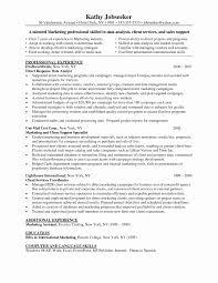 Sample Business Analyst Resume Fresh Marketing Research Resume