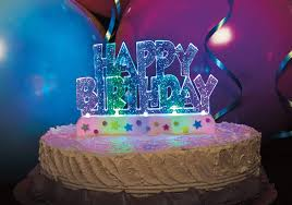 Flashing Happy Birthday Cake Decoration 1ct Walmart – Cute766