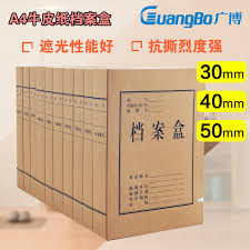 office file boxes. Buy Extensive A4 File Box 30 40 50mm Information Boxes Kraft Paper Office Storage Mounted Single In Cheap Price On M.alibaba.com