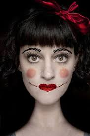 image result for creepy doll makeup