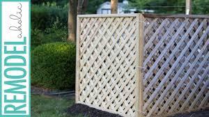 easy diy lattice air conditioner screen