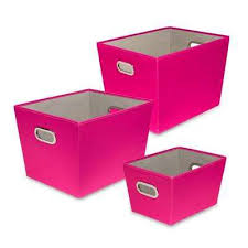 pink storage containers. 60 Qt Pink With Copper Handles Canvas Tote Set Of For Storage Containers