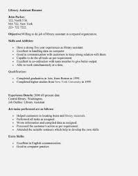resume for library assistant resume template - Library Assistant Resume