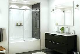 bathroom glass door installation bathtub doors cost sliding shower curtain or gla