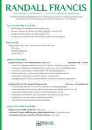 Resume For Nurses Templates Registered Nursesume Examples Sample Format Download Pdf