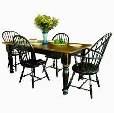 custom made pine farmhouse dining table six chairs