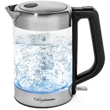 Glass Electric Kettle | BPA Free with <b>Borosilicate Glass</b> & Stainless ...